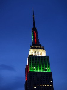 Empire State Building on Christmas